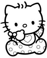 Imprimer le coloriage : Hello Kitty, numéro 558954