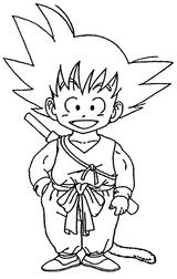 Coloriages à Imprimer Son Goku Numéro 2636