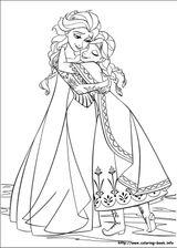 Coloriage La Reine Des Neiges.Coloriages A Imprimer La Reine Des Neiges Page 1