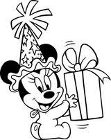 Coloriages à Imprimer Minnie Mouse Page 1