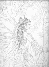 Imprimer le coloriage : Personnages féeriques, numéro 147