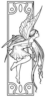 Imprimer le coloriage : Personnages féeriques, numéro 16332