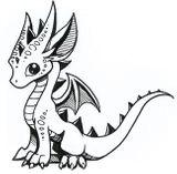 Imprimer le coloriage : Dragon, numéro 1160fe6e