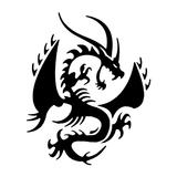 Imprimer le coloriage : Dragon, numéro 127872