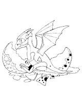 Imprimer le coloriage : Dragon, numéro 127880