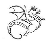Imprimer le coloriage : Dragon, numéro 145514