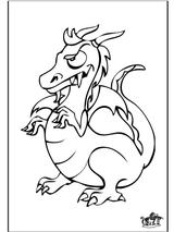 Imprimer le coloriage : Dragon, numéro 145517