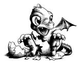 Imprimer le coloriage : Dragon, numéro 145518