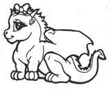 Imprimer le coloriage : Dragon, numéro 145521
