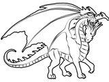 Imprimer le coloriage : Dragon, numéro 157