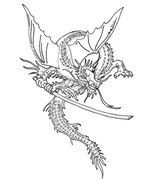 Imprimer le coloriage : Dragon, numéro 158