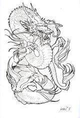 Imprimer le dessin en couleurs : Dragon, numéro 20351