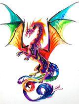 Imprimer le dessin en couleurs : Dragon, numéro 484407