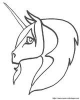 Imprimer le coloriage : Licorne, numéro 113480