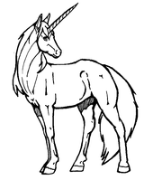 Imprimer le coloriage : Licorne, numéro 128446