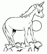 Imprimer le coloriage : Licorne, numéro 128449