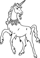 Imprimer le coloriage : Licorne, numéro 128452
