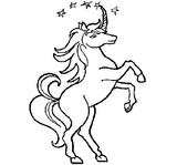 Imprimer le coloriage : Licorne, numéro 128453