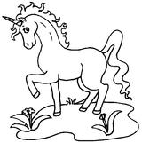 Imprimer le coloriage : Licorne, numéro 128455