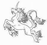 Imprimer le coloriage : Licorne, numéro 128468