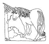 Imprimer le coloriage : Licorne, numéro 128469