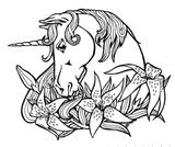 Imprimer le coloriage : Licorne, numéro 145914
