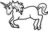 Imprimer le coloriage : Licorne, numéro 145915