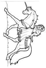 Imprimer le coloriage : Licorne, numéro 145916