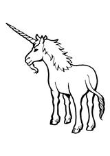 Imprimer le coloriage : Licorne, numéro 145919
