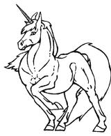 Imprimer le coloriage : Licorne, numéro 145921