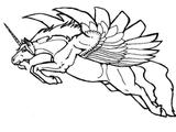 Imprimer le coloriage : Licorne, numéro 145923