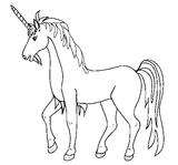 Imprimer le coloriage : Licorne, numéro 145925