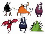 Imprimer le dessin en couleurs : Monstres, numéro 208706