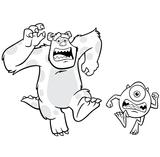 Imprimer le coloriage : Monstres, numéro 209510