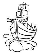 Imprimer le coloriage : Pirate, numéro 130128