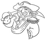 Imprimer le coloriage : Pirate, numéro 130149