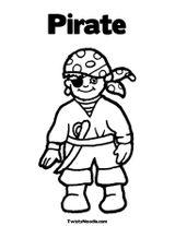 Imprimer le coloriage : Pirate, numéro 130151