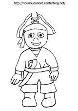 Imprimer le coloriage : Pirate, numéro 13134