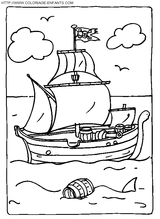 Imprimer le coloriage : Pirate, numéro 13138
