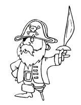 Imprimer le coloriage : Pirate, numéro 13147