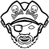 Imprimer le coloriage : Pirate, numéro 13614