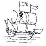 Imprimer le coloriage : Pirate, numéro 1817