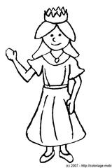 Imprimer le coloriage : Princesse, numéro 13164