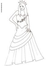 Imprimer le dessin en couleurs : Princesse, numéro 13689