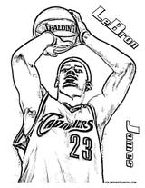 Imprimer le coloriage : Basketball, numéro 3e54204c