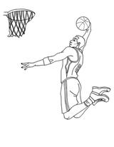 Imprimer le coloriage : Basketball, numéro 413c3cbc