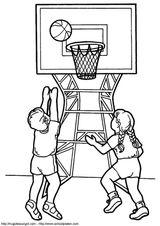 Imprimer le coloriage : Basketball, numéro 459887