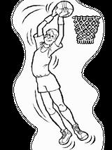 Imprimer le coloriage : Basketball, numéro 459890