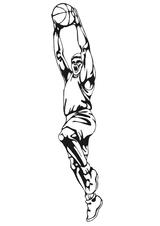 Imprimer le coloriage : Basketball, numéro 459898