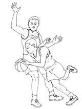 Imprimer le coloriage : Basketball, numéro 459906